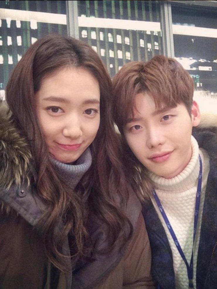 Park Shin-hye and Lee Jong-suk / Courtesy of Park Shin-hye's Instagram