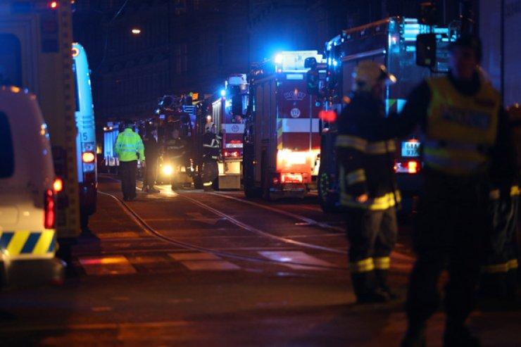 Scene of a fire at a hotel in Prague, Czech Republic /Yonhap