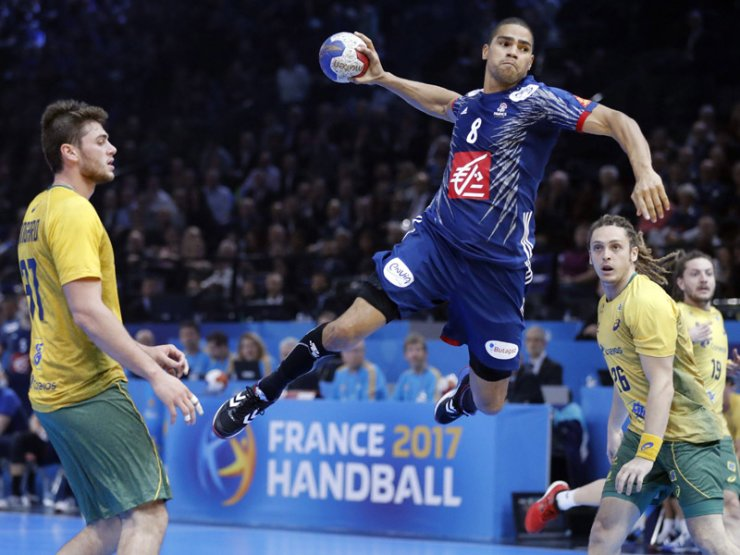 France Against Brazil In Handball Championship