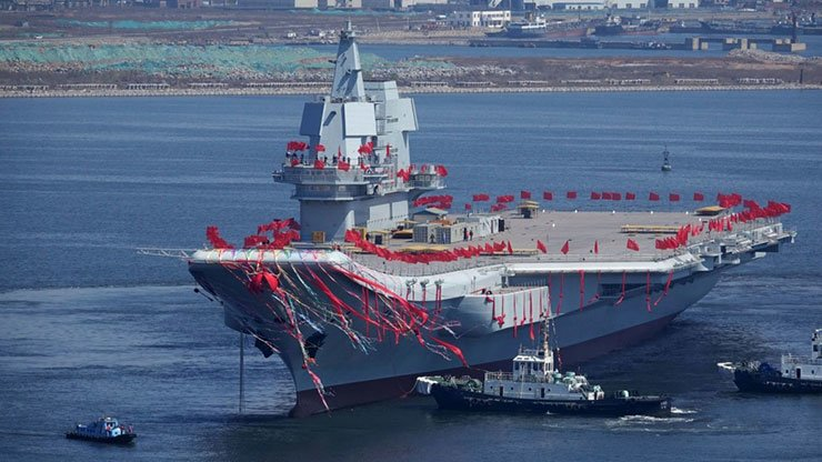 The new aircraft carrier was launched in April last year and could join the navy as early as the end of this year. / AFP