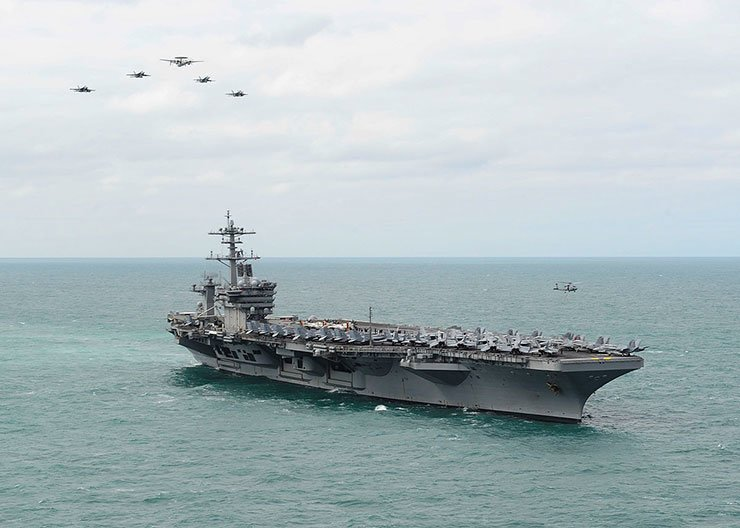 USS Theodore Roosevelt underway in the Atlantic Ocean in March 2015. / Courtesy of Wikipedia