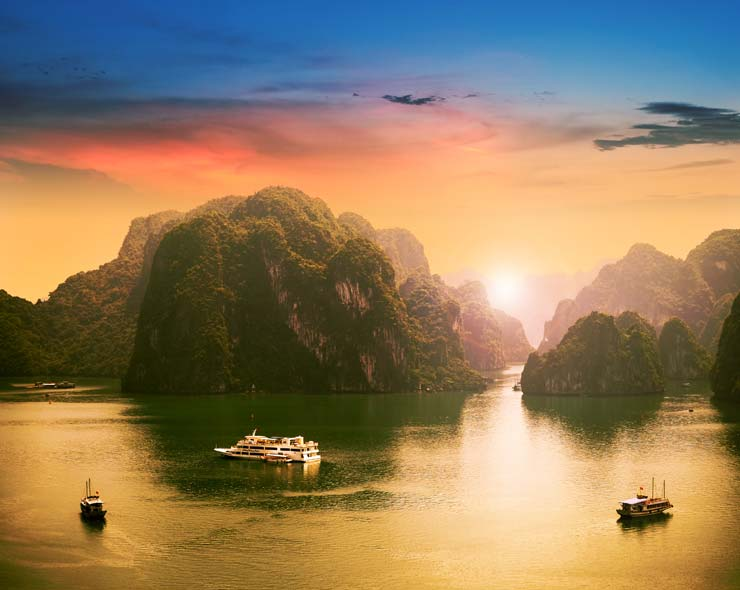 Paradise Elegance vessel cruise on Vietnamese popular tourist destination Halong Bay in this photo. / Courtesy of Paradise Vietnam