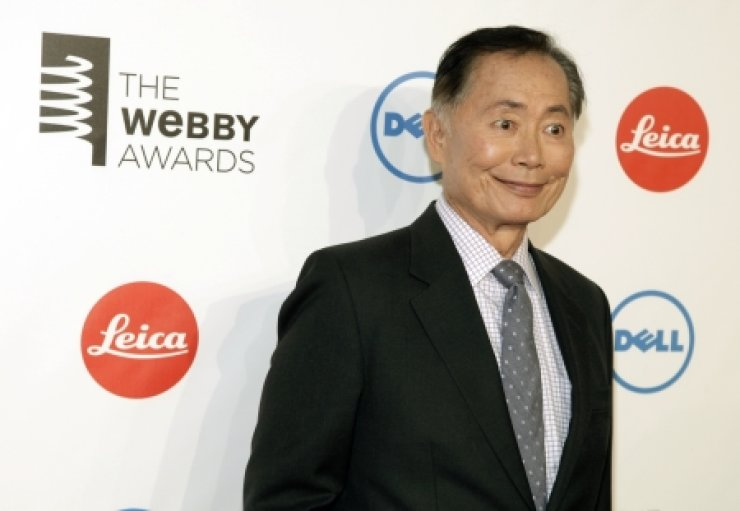 Actor George Takei attends the 2014 Webby Awards in New York ealier this month./AP-Yonhap