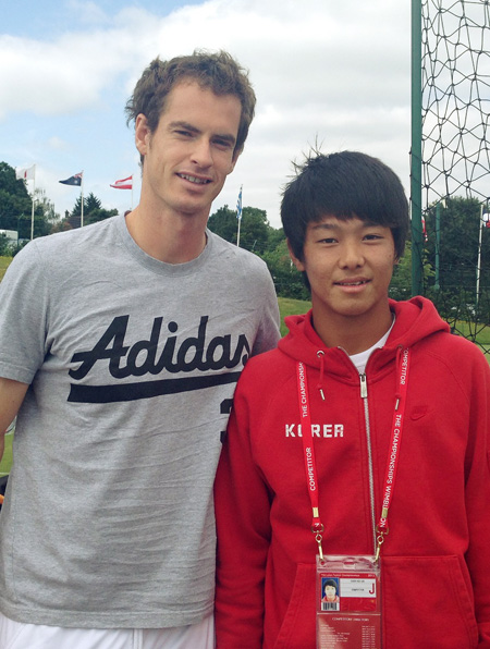Chung Hyeon became the first Korean to reach the finals of the Wimbledon Junior Championships  Friday. / Yonhap