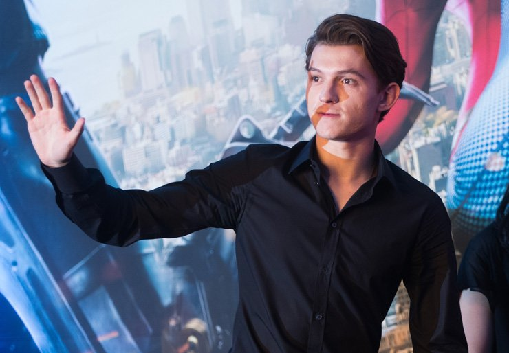 British actor Tom Holland speaks during a press conference at the Conrad Hotel, Seoul, Monday, for the upcoming superhero film 'Spiderman: Homecoming.' / Yonhap