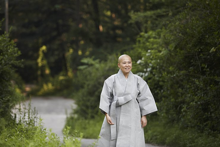 Buddhist nun Wookwan / Courtesy of Wookwan