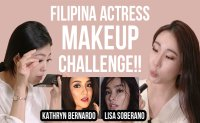 Koreans try filipina actress make-up style!!