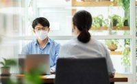 Office workers wear face masks for over 8 hours a day