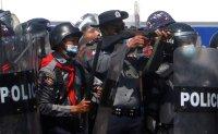 Myanmar junta cracks down on crowds defying protest ban