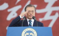 Moon says strong military buttresses peace process