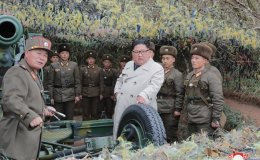 NK leader inspects border military unit, orders firing drills