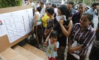 Indonesian voters deciding between moderate and ex-general