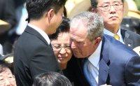 Moon lauds Bush for stronger ROK-US alliance