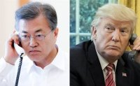 Trump asks Moon to send Korea's medical equipment for COVID-19 fight