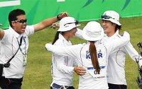 S. Korea wins 1 gold, 1 silver in team compound archery
