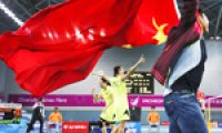 China dominates medal table; S. Korea, Japan compete for 2nd