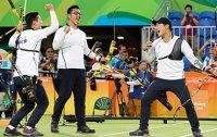 Men's archery team shoots first gold