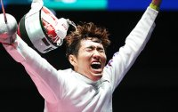 Fencer wins S. Korea's 1st gold in epee