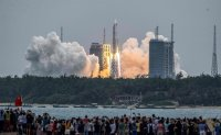 US watching Chinese rocket's erratic re-entry: Pentagon