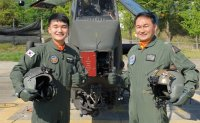 Father, son operate Cobra choppers