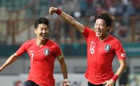 S. Korea blank Iran 2-0 to reach men's football quarterfinals