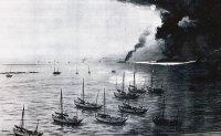 It's war: Russian, Japanese ships fight it out in Jemulpo harbor