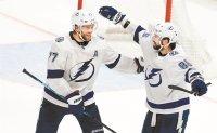 Kucherov's OT goal lifts Lightning over Blue Jackets 2-1
