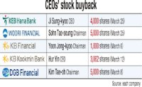 Financial CEOs rush to buy back own shares