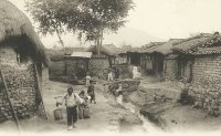 Korean and Japanese postcards of the past - homes