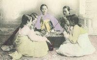 Rolling tobacco in Joseon