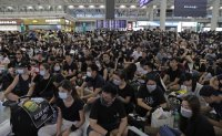 Hong Kong airport occupied by protesters