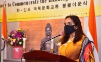 India offers Buddha statue to Yangsan's Tongdo Temple as gift