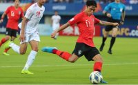 South Korea beats Iran to clinch knockout berth at Olympic men's football qualifying