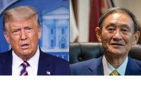 Japan's Suga holds first phone talks with Trump as PM