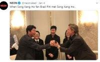 'Parasite' star Song Kang-ho meets Brad Pitt