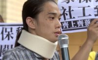 Five men in Hong Kong court over violent protests