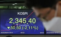 Seoul stocks trim losses late Friday morning