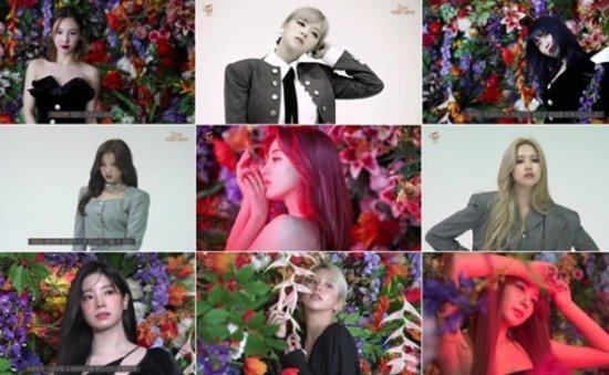 TWICE members pose in new album images