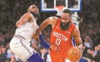 Harden score career-best 61, Rockets edge Knicks