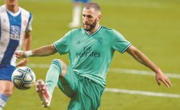 Brilliant Benzema helps Madrid go 2 points clear of Barca