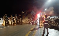 Driver drunk and speeding at time of crash into US armored vehicle: police