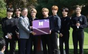 BTS meets Moon at presidential office