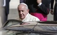 Pope all smiles at first public audience in 6 months, appeals for Lebanon
