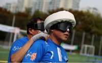 Blind footballers show off their skills [PHOTOS]