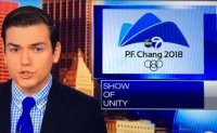 US broadcaster calls 'P.F. Chang' host of Winter Olympics