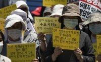 Protest against Japan's sex slavery