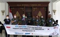 KAI donates coronavirus test kits to Indonesia's defense ministry