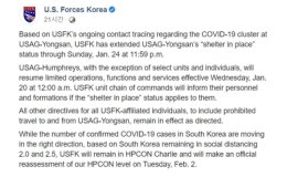 USFK struggling with increasing COVID-19 cases