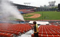 Preparing for baseball season opening amid pandemic [PHOTOS]