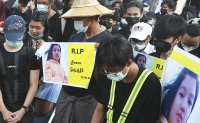 Rallies mourn anti-coup protester death as US urges Myanmar junta to yield power